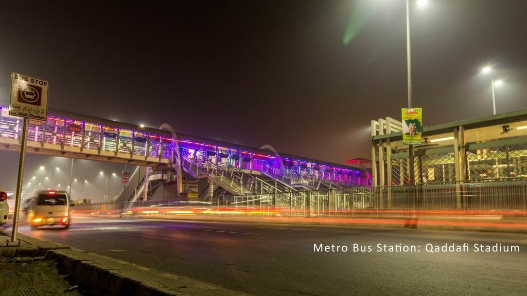 Metro Bus Station : Qaddafi Stadium